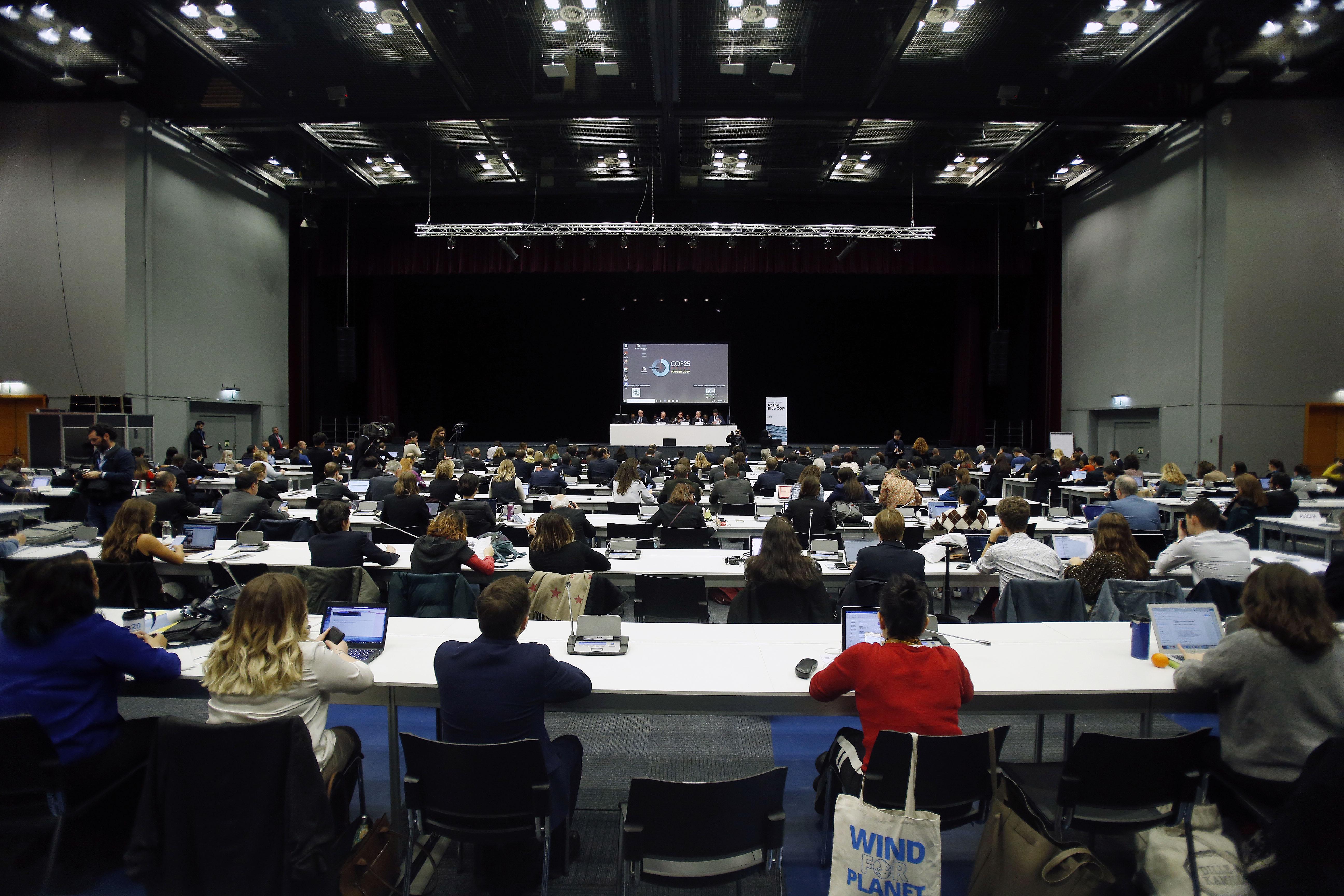 Conferencia sobre el Clima de las Naciones Unidas reunidos en Madrid © COP25