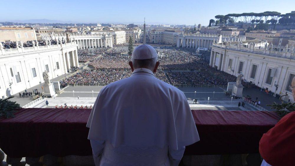 Navidad Papa bendición