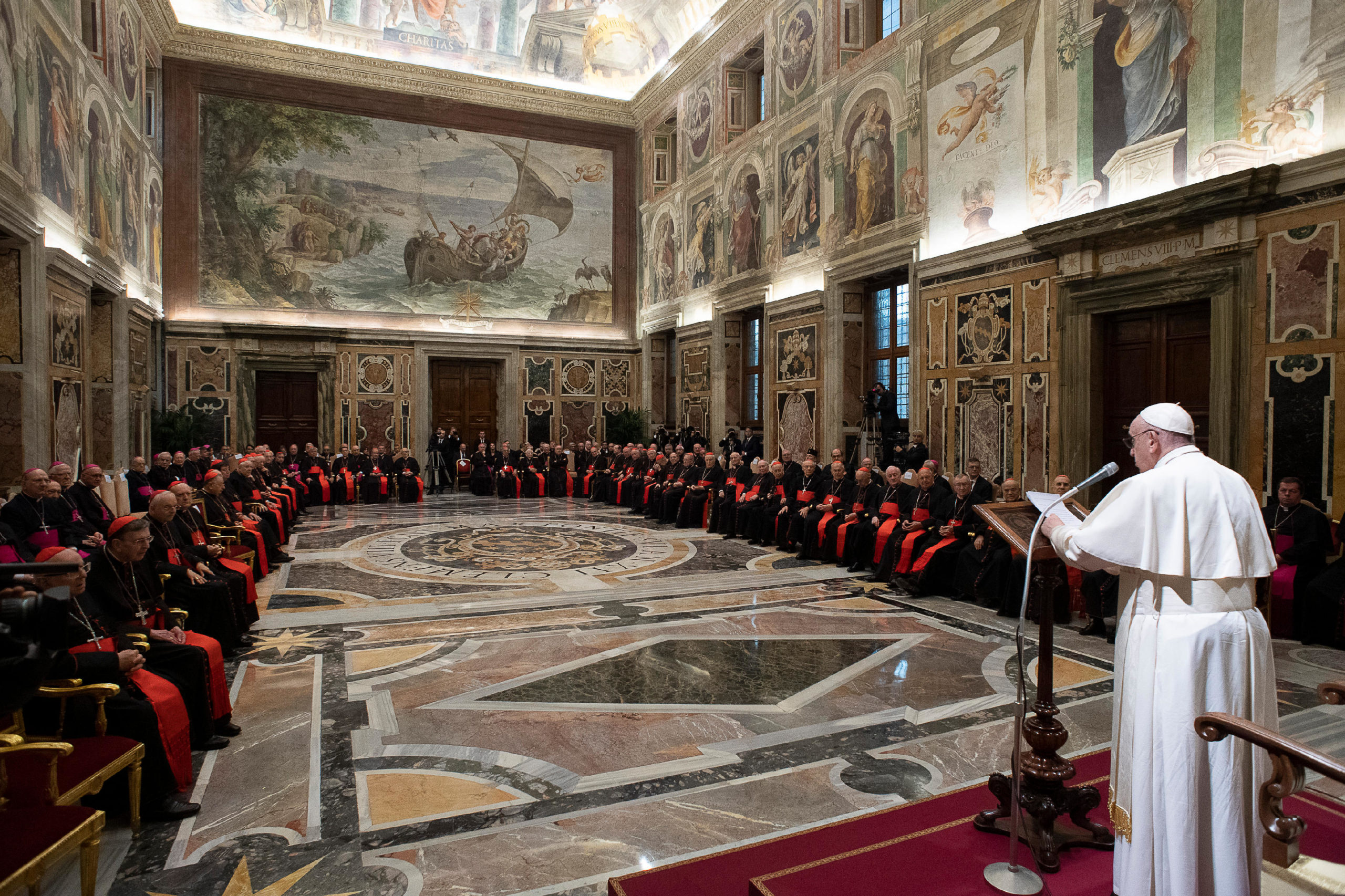 Discurso En La Curia Romana, Navidad 2019 © Vatican Media