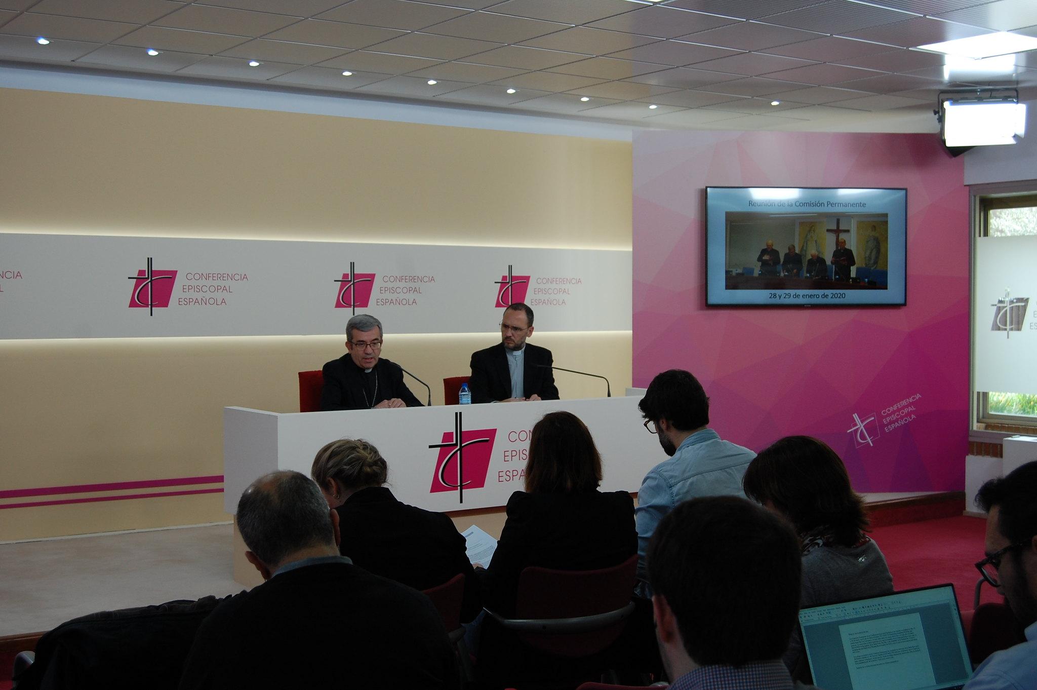 Presentación de los trabajos realizados por la Comisión Permanente, enero 2020 © Conferencia Episcopal Española