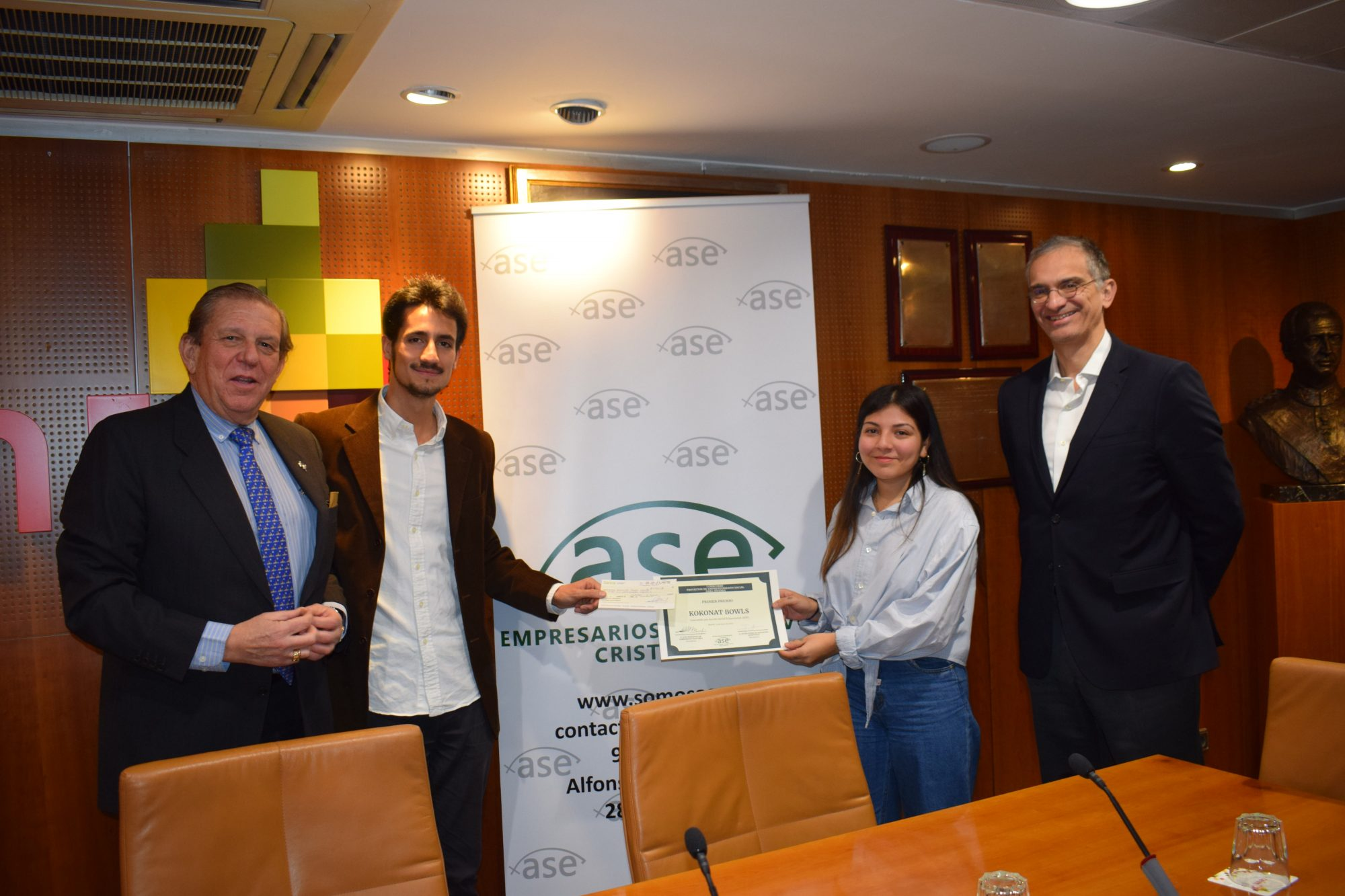 Ganadores del I Concurso de Emprendimiento Social © ASE
