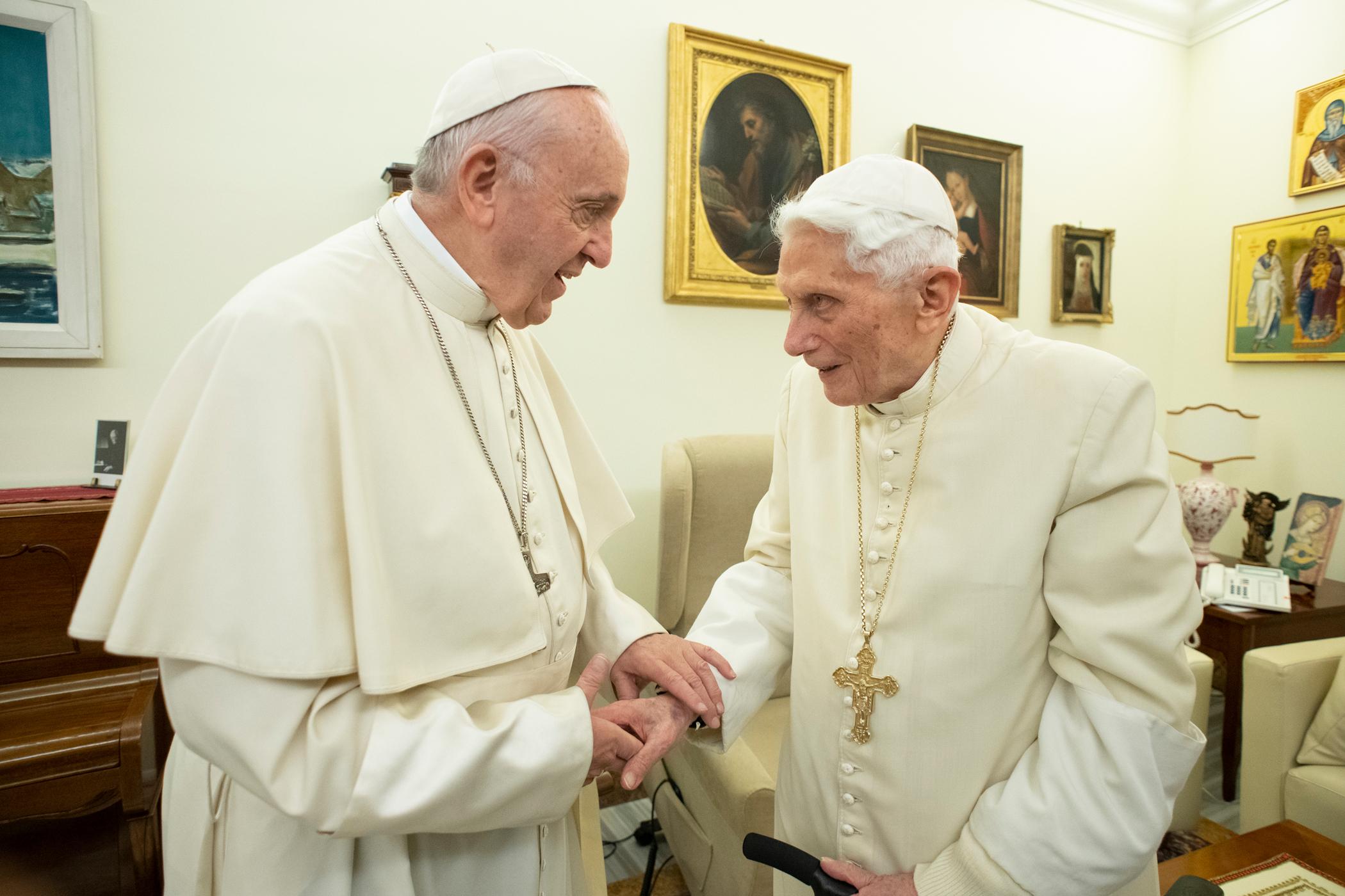 Visita a Benedicto XVI, Navidad 2018 © Vatican Media