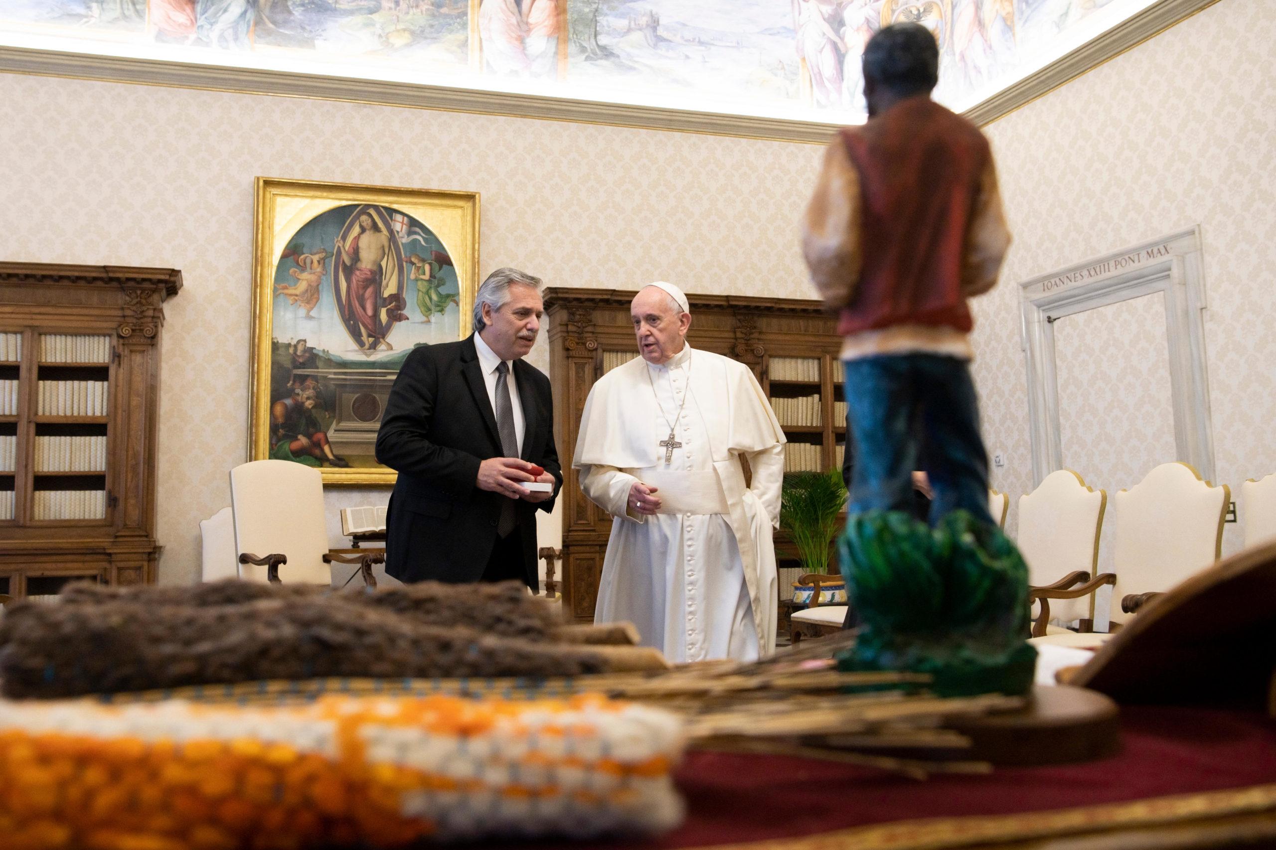 Francisco y Alberto Fernández juntos en el Vaticano, 31 enero 2020 © Vatican Media