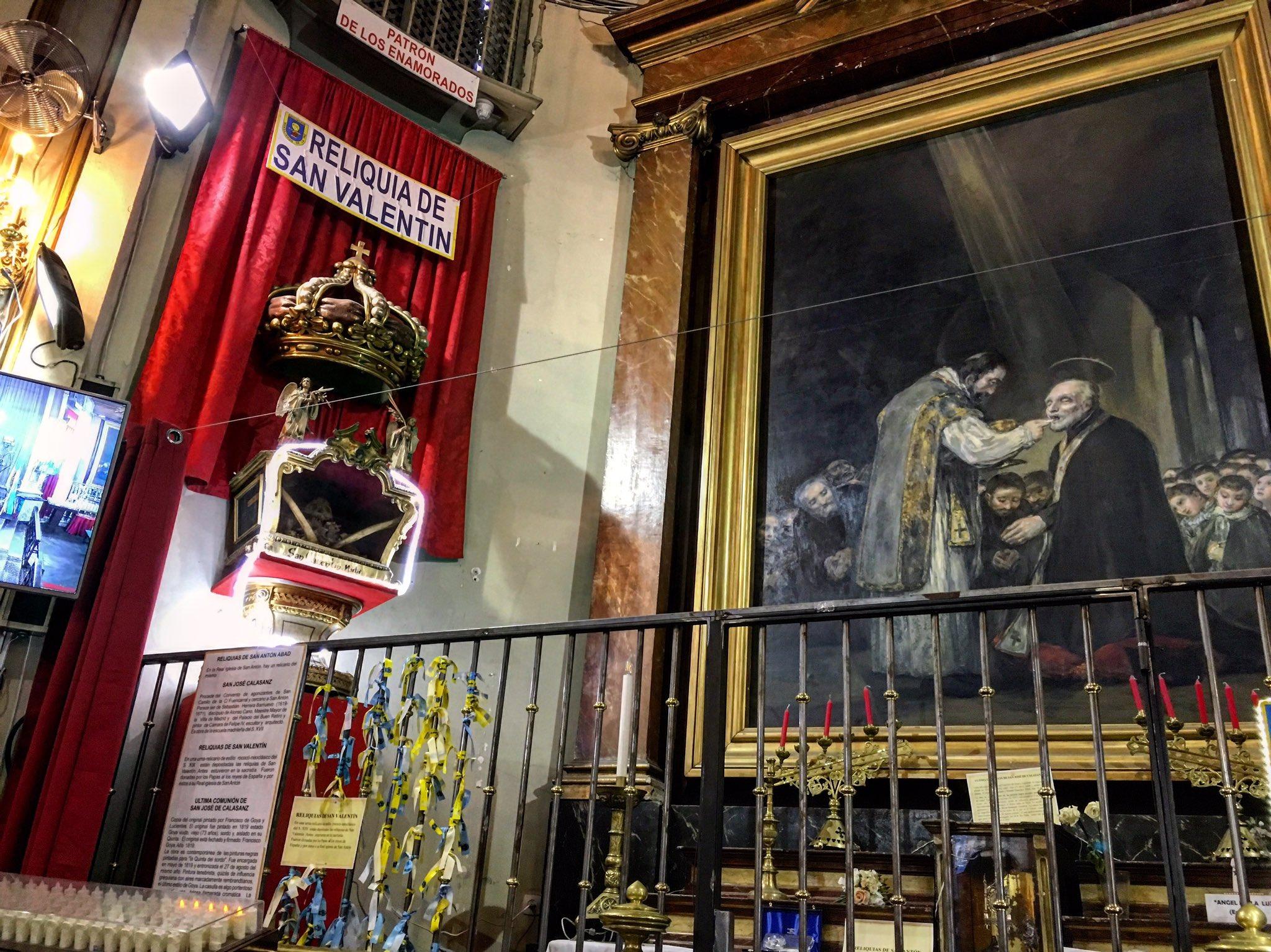 Reliquias de san Valentín en la iglesia de San Antón, Madrid © secretosdemadrid