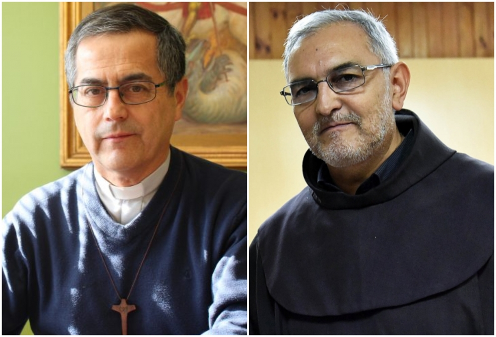 Sergio Pérez de Arce (izda) Jorge Concha Cayuqueo (dcha) © Conferencia Episcopal de Chile