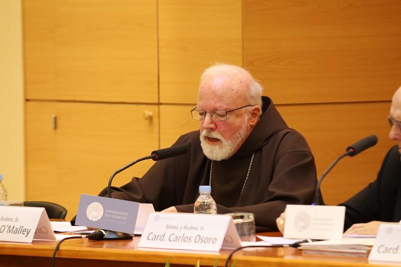 Cardenal Seán O'Malley, en la Univ. San Dámaso, Madrid © Archidiócesis de Madrid