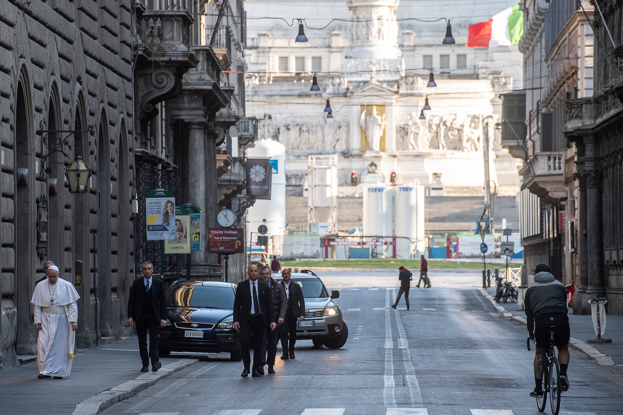 Francisco peregrinando a San Marcello al Corso © Vatican Media