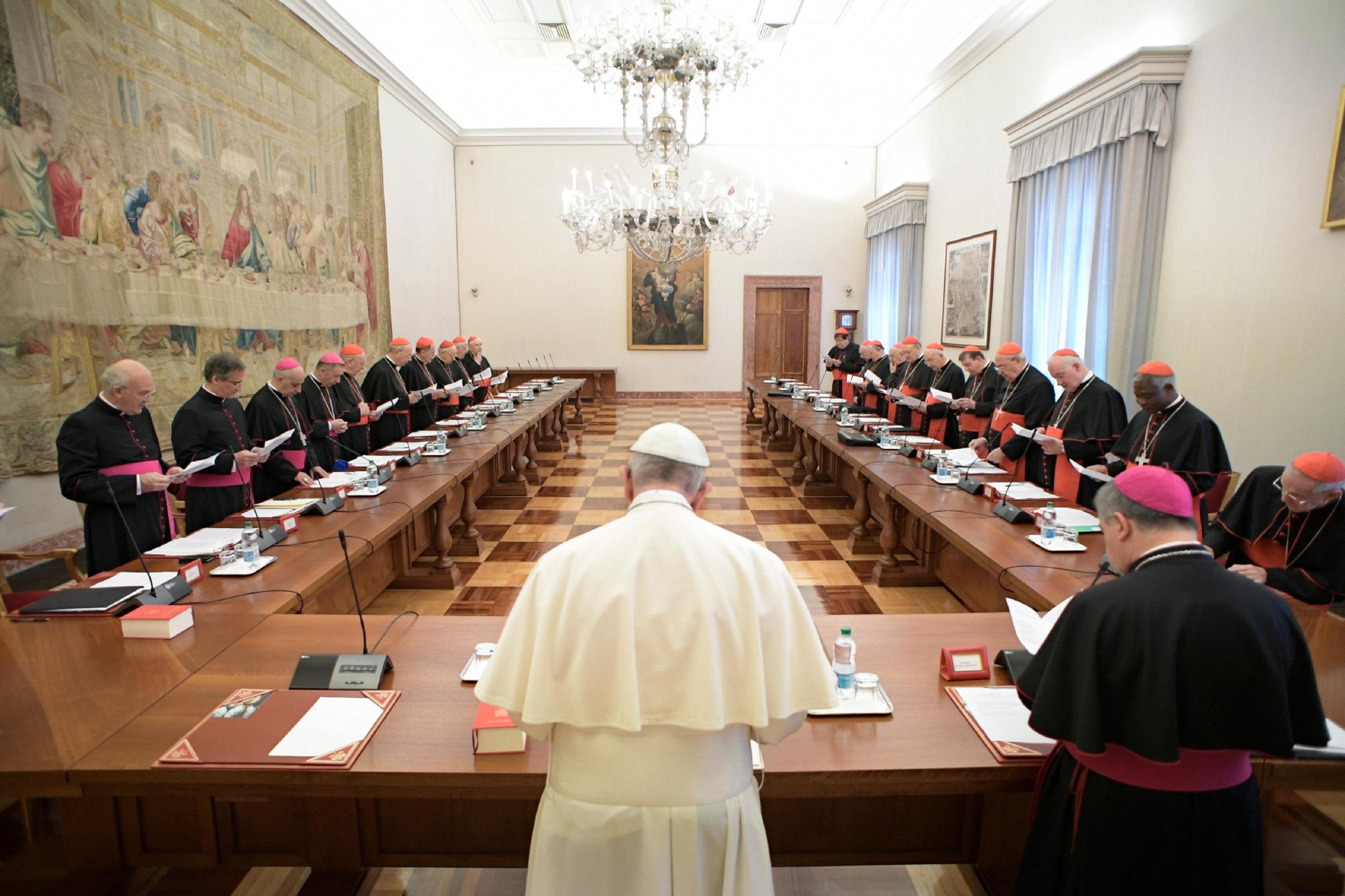 Reunión del Papa con los jefes de los dicasterios © Vatican Media