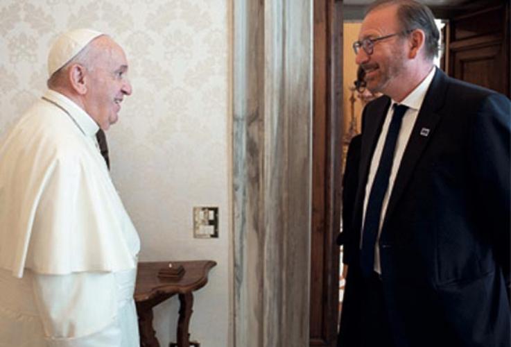 El Papa recibe al presidente de la Asamblea Parlamentaria del Consejo de Europa