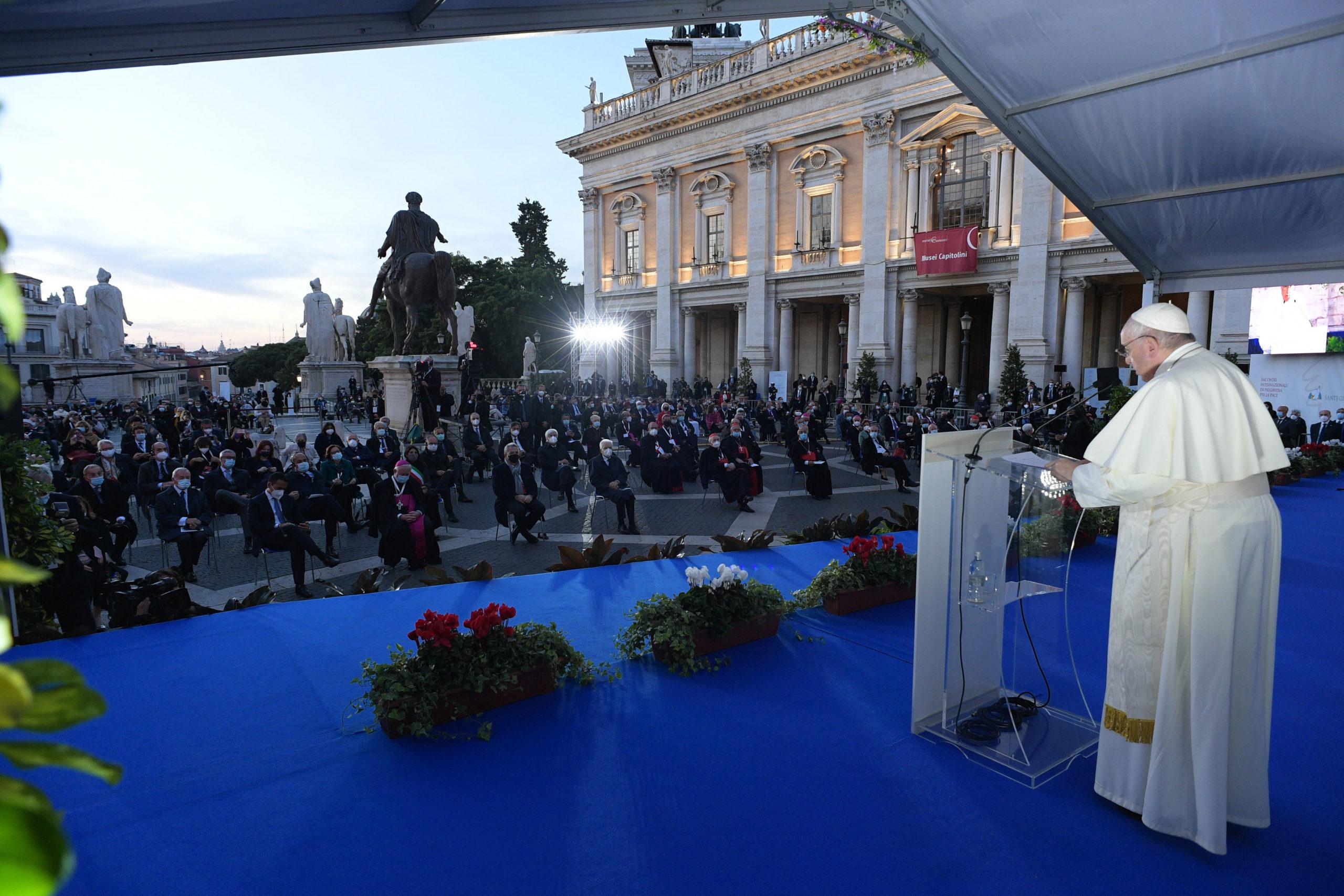 Ceremonia paz Papa