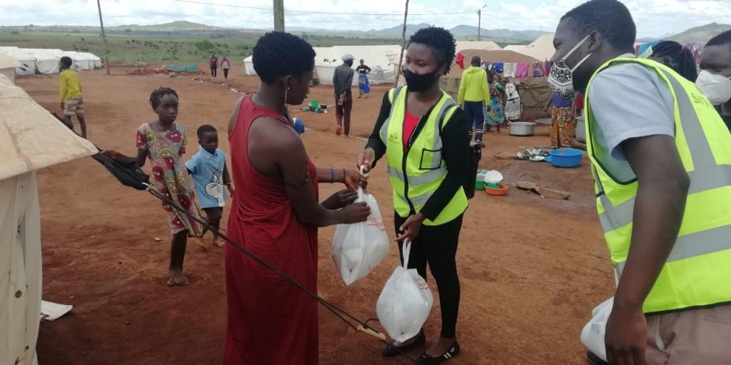 Refugiados Mozambique Navidad